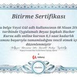 Boğaziçi Üniversitesi Siber Güvenlik sertifikası Aldık